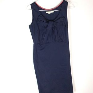Boden bow sheath dress navy blue WH459